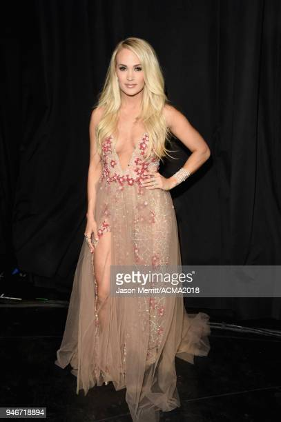 Carrie Underwood attends the 53rd Academy of Country Music Awards at MGM Grand Garden Arena on April 15 2018 in Las Vegas Nevada