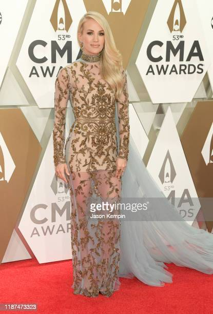Carrie Underwood attends the 53rd annual CMA Awards at the Music City Center on November 13 2019 in Nashville Tennessee