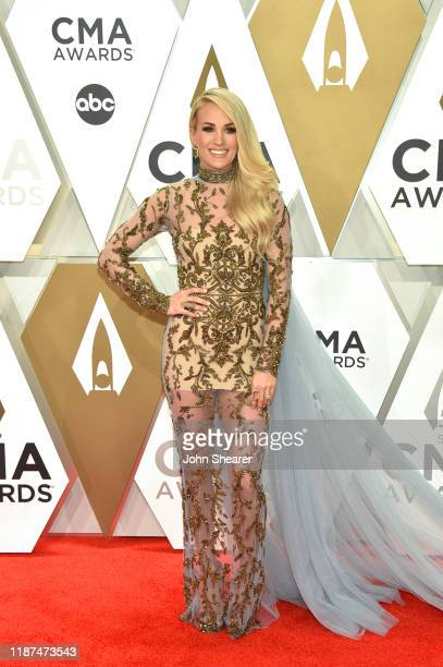Carrie Underwood attends the 53rd annual CMA Awards at the Music City Center on November 13, 2019 in Nashville, Tennessee.