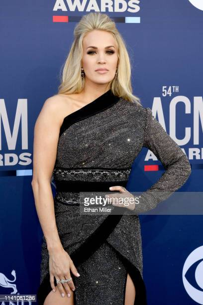 Carrie Underwood attends the 54th Academy Of Country Music Awards at MGM Grand Hotel Casino on April 07 2019 in Las Vegas Nevada