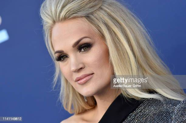 Carrie Underwood attends the 54th Academy of Country Music Awards at MGM Grand Garden Arena on April 07 2019 in Las Vegas Nevada