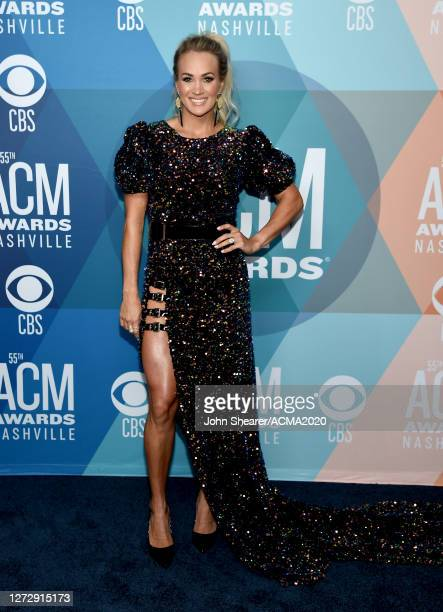 Carrie Underwood attends the 55th Academy of Country Music Awards at the Grand Ole Opry on September 16, 2020 in Nashville, Tennessee. The ACM Awards...