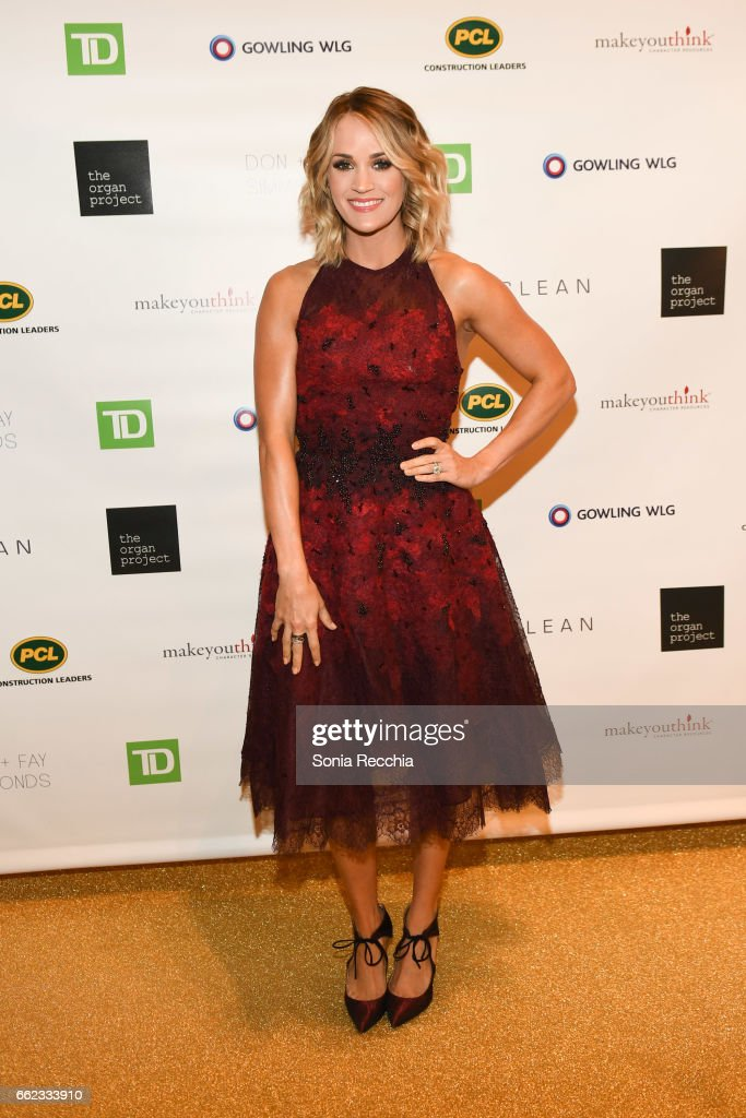 Carrie Underwood attends The Organ Project Inaugural Gala at The Fairmont Royal York Hotel on March 31, 2017 in Toronto, Canada.