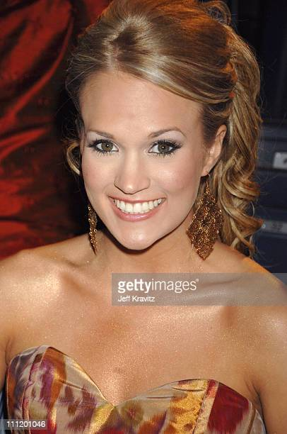 Carrie Underwood during 2007 CMT Music Awards - Backstage and Audience at The Curb Event Center at Belmont University in Nashville, Tennessee, United...