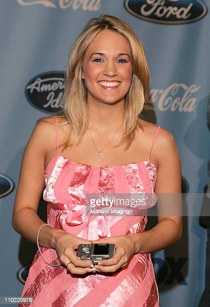 Carrie Underwood during American Idol Top 12 Finalists Party March 9 2005 at The Pacific Design Center in West Hollywood California United States