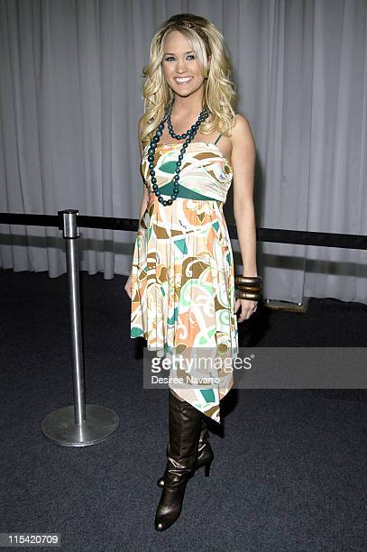 Carrie Underwood during Olympus Fashion Week Fall 2006 Baby Phat Inside Arrivals and Departures at The Tent Bryant Park in New York City New York...