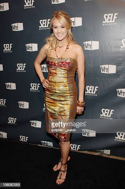 """Carrie Underwood during Self Magazine and VH-1 Fifth Annual """"Most Wanted Bodies"""" Event at Stereo in New York City, NY, United States."""