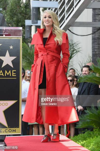 Singer Carrie Underwood attends her Hollywood Walk of Fame star unveiling ceremony September 20 2018 in Hollywood California