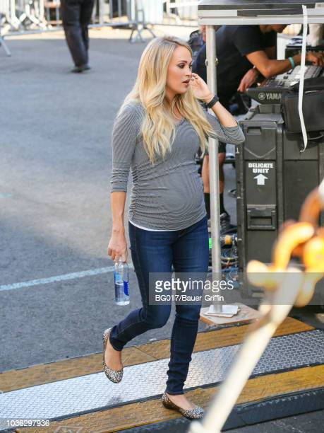 Carrie Underwood is seen arriving at 'Jimmy Kimmel Live' on September 19 2018 in Los Angeles California
