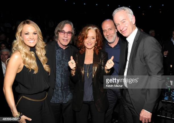 Carrie Underwood Jackson Browne Bonnie Raitt Marc Cohn and John McEnroe attend the 29th Annual Rock And Roll Hall Of Fame Induction Ceremony at...