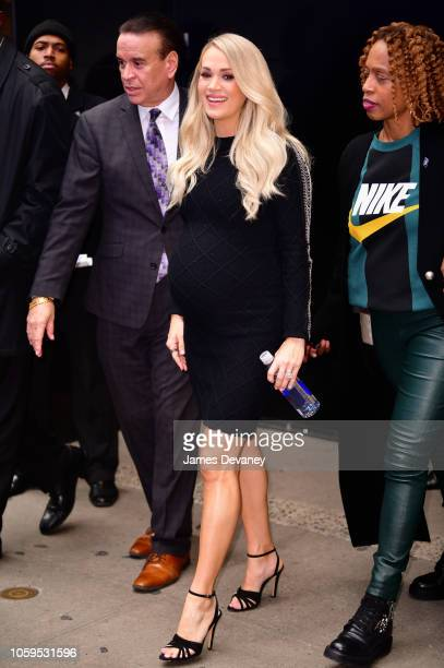 Carrie Underwood leaves ABC's Good Morning America in Times Square on November 9 2018 in New York City
