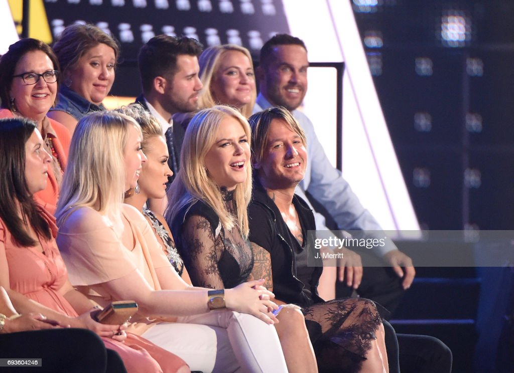 Carrie Underwood, Nicole Kidman and Keith Urban attend the 2017 CMT Music Awards at the Music City Center on June 7, 2017 in Nashville, Tennessee.
