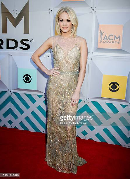 Carrie Underwood on the Red Carpet at the 51st ACADEMY OF COUNTRY MUSIC AWARDS cohosted by Luke Bryan and Dierks Bentley from the MGM Grand Garden...