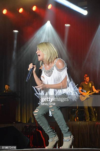 Carrie Underwood perfoms during the ACM Party for a Cause Festival at the Las Vegas Festival Grounds on April 1 2016 in Las Vegas Nevada
