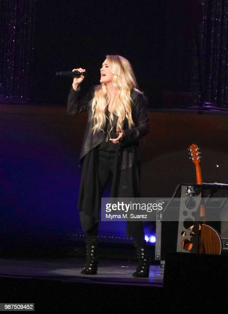 Carrie Underwood performs at The Hard Rock Live venue at the Opening Weekend at Hard Rock Hotel Casino Atlantic City on June 28 2018 in Atlantic City...