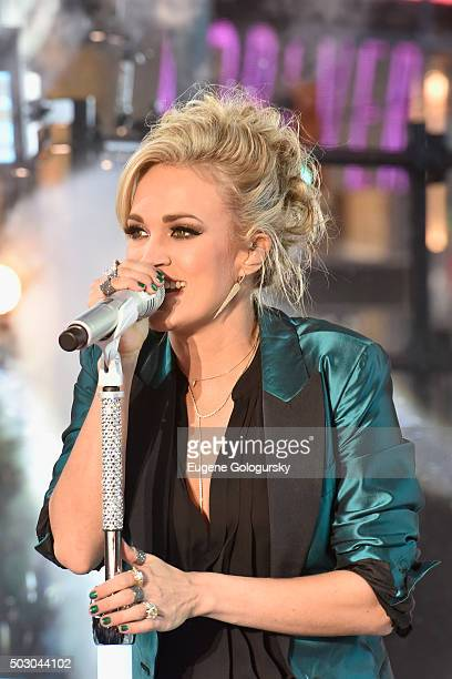 Carrie Underwood performs during New Year's Eve celebrations at Times Square on December 31 2015 in New York City