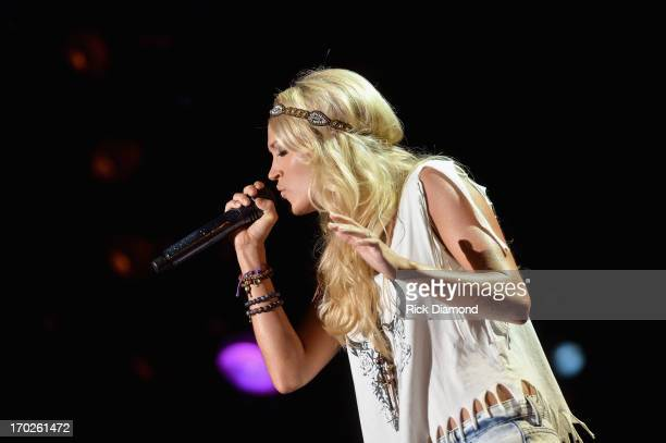 Carrie Underwood performs during the 2013 CMA Music Festival on June 9 2013 in Nashville Tennessee