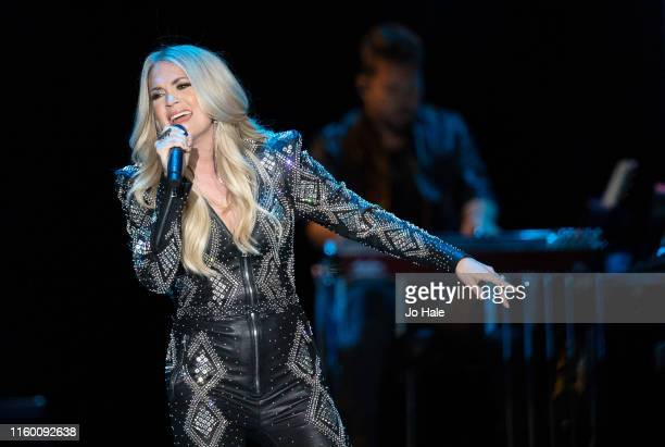 Carrie Underwood performs on stage at The SSE Arena, Wembley on July 04, 2019 in London, England.