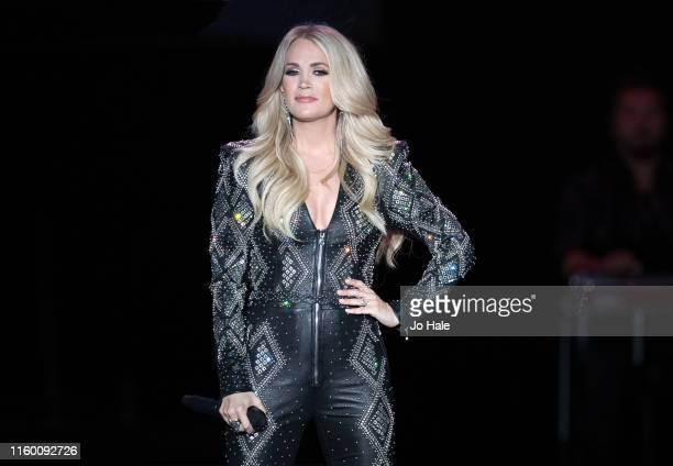 Carrie Underwood performs on stage at The SSE Arena Wembley on July 04 2019 in London England