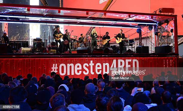 Carrie Underwood performs on World AIDS Day at 'A Thank You Presented by RED on December 1 2014 in New York City Photo by Kevin Mazur/Getty Images for