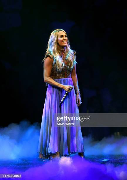 Carrie Underwood performs onstage at Staples Center on September 12 2019 in Los Angeles California