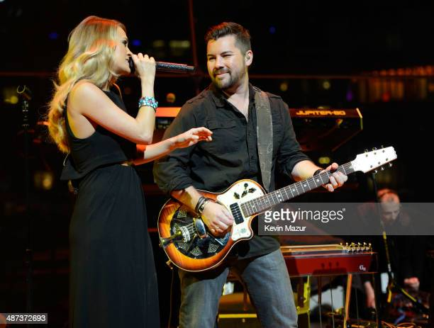 Carrie Underwood performs onstage at the TIME 100 Gala TIME's 100 most influential people in the world at Jazz at Lincoln Center on April 29 2014 in...