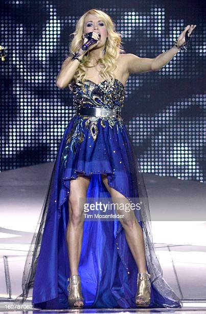 Carrie Underwood performs part of her Blown Away Tour at the Stockton Arena on February 26, 2013 in Stockton, California.