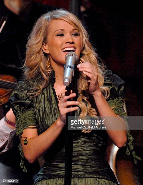 """Carrie Underwood performs """"San Antonio Rose"""" in tribute to Bob Wills & His Texas Playboys at the Staples Center in Los Angeles, California"""
