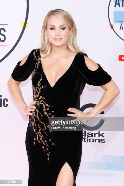 Carrie Underwood photographed on the red carpet of the 2018 American Music Awards at the Microsoft Theater on October 9 2018 in Los Angeles USA