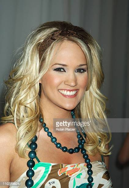 Carrie Underwood winner of American Idol during Olympus Fashion Week Fall 2006 Baby Phat Inside Arrivals and Departures at The Tent Bryant Park in...