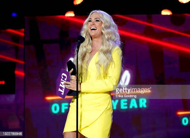 Carrie Underwood wins Video of the Year for the 2021 CMT Music Awards at Bridgestone Arena on June 09, 2021 in Nashville, Tennessee.