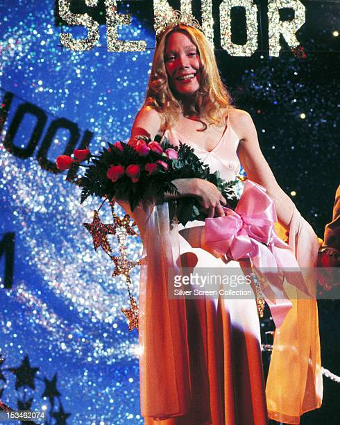 Carrie White played by Sissy Spacek is unexpectedly elected prom queen in Brian De Palma's horror film 'Carrie' 1976