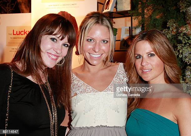 Carrie Wick April Leight and Amy Rinaldi attend the Lucky Guide to Mastering Any Style launch on October 2 2008 in Los Angeles California