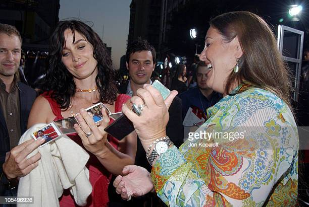 CarrieAnne Moss and Camryn Manheim during Collateral Los Angeles Premiere Red Carpet at The Orpheum Theatre in Los Angeles California United States
