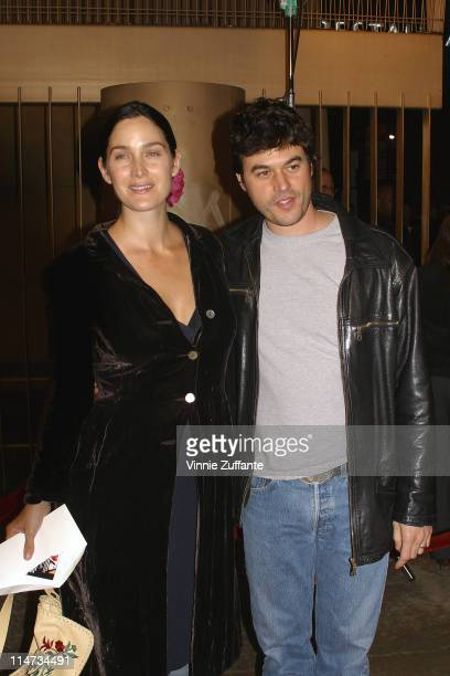 CarrieAnne Moss and Steven Roy attending the premiere of The Cooler at the The Egyptian Theater in Hollywood Ca 11/25/03