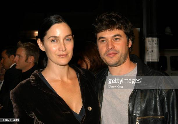 "Carrie-Anne Moss and Steven Roy during ""The Cooler"" Los Angeles Premiere - Arrivals at The Egyptian Theater in Hollywood, California, United States."