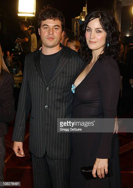 CarrieAnne Moss and Steven Roy during The Matrix Revolutions Premiere at Disney Concert Hall in Los Angeles California United States