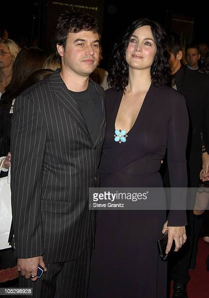 "Carrie-Anne Moss and Steven Roy during ""The Matrix Revolutions"" Premiere at Disney Concert Hall in Los Angeles, California, United States."