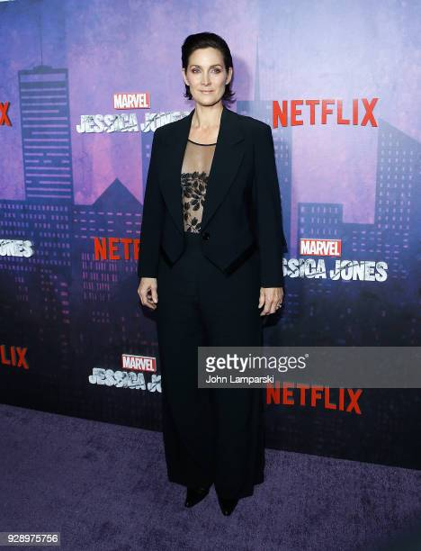 CarrieAnne Moss attends Jessica Jones season 2 New York Premiere at AMC Loews Lincoln Square on March 7 2018 in New York City