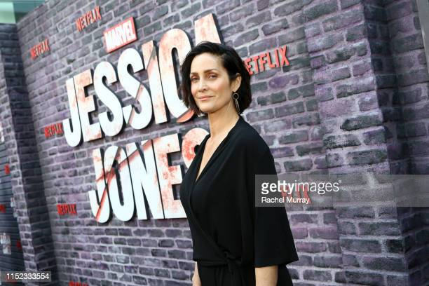 CarrieAnne Moss attends Marvel's Jessica Jones Season 3 premiere at ArcLight Cinemas on May 28 2019 in Hollywood California