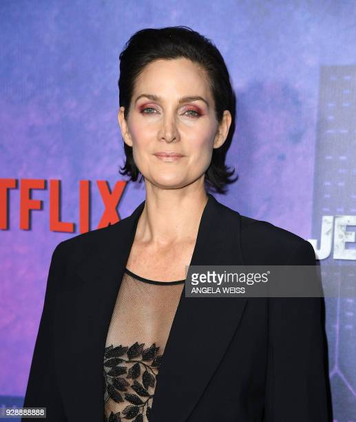 CarrieAnne Moss attends Netflix's 'Marvel's Jessica Jones' Season 2 Premiere at AMC Loews Lincoln Square on March 7 2018 in New York / AFP PHOTO /...
