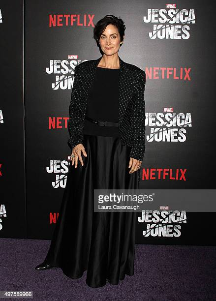 CarrieAnne Moss attends the 'Jessica Jones' Series Premiere at Regal EWalk on November 17 2015 in New York City