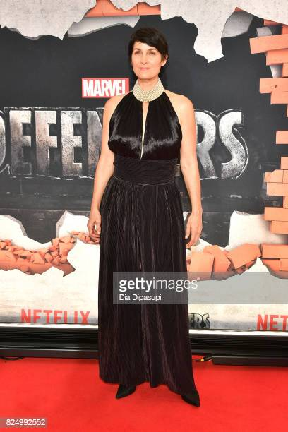 CarrieAnne Moss attends the Marvel's The Defenders New York Premiere at Tribeca Performing Arts Center on July 31 2017 in New York City