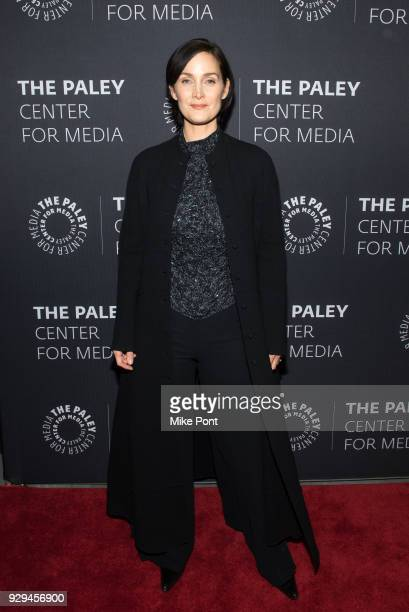 CarrieAnne Moss attends The Paley Center for Media presents An Evening with Marvel's 'Jessica Jones' at The Paley Center for Media on March 8 2018 in...
