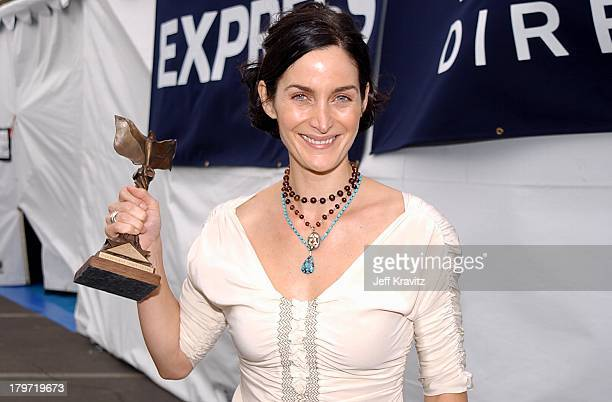 CarrieAnne Moss during 2002 IFP/West Independent Spirit Awards Backstage at Santa Monica Beach in Santa Monica California United States