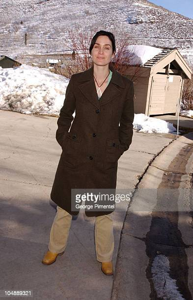 CarrieAnne Moss during 2003 Sundance Film Festival CarrieAnne Moss Outdoor Portraits at Amber Court in Park City Utah United States