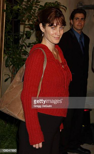 CarrieAnne Moss during Global Vision For Peace Party at Talmadge Estate in Los Feliz California United States