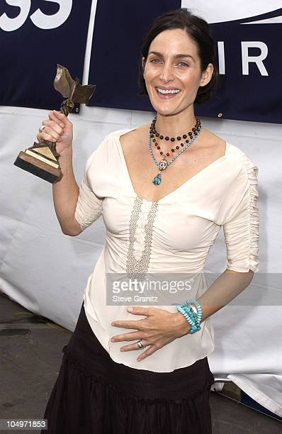 CarrieAnne Moss during The 17th Annual IFP/West Independent Spirit Awards Backstage at Santa Monica Beach in Santa Monica California United States