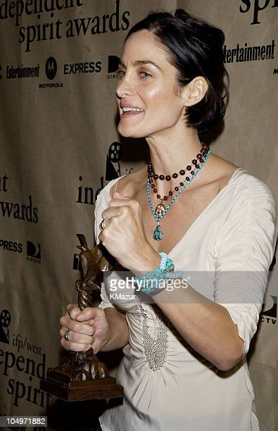 CarrieAnne Moss during The 17th Annual IFP/West Independent Spirit Awards Press Room at Santa Monica Beach in Santa Monica California United States