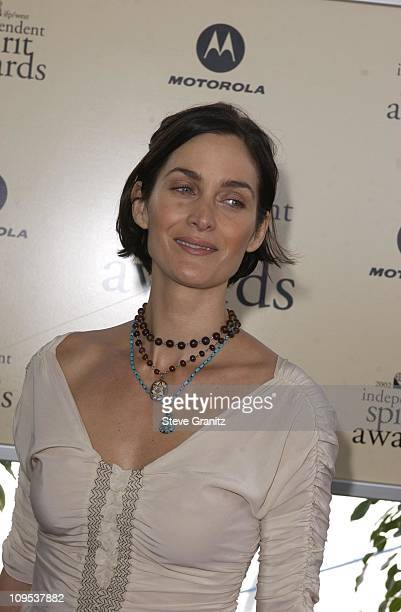 CarrieAnne Moss during The 17th Annual IFP/West Independent Spirit Awards Arrivals at Santa Monica Beach in Santa Monica California United States